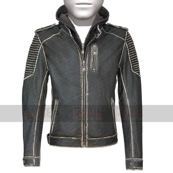 Joker The Killing Hooded Jacket Suicide Squad Real Distress Leather
