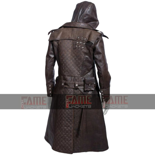 Buy Assassins Creed Real Brown Distressed Mens Winter Leather Coat