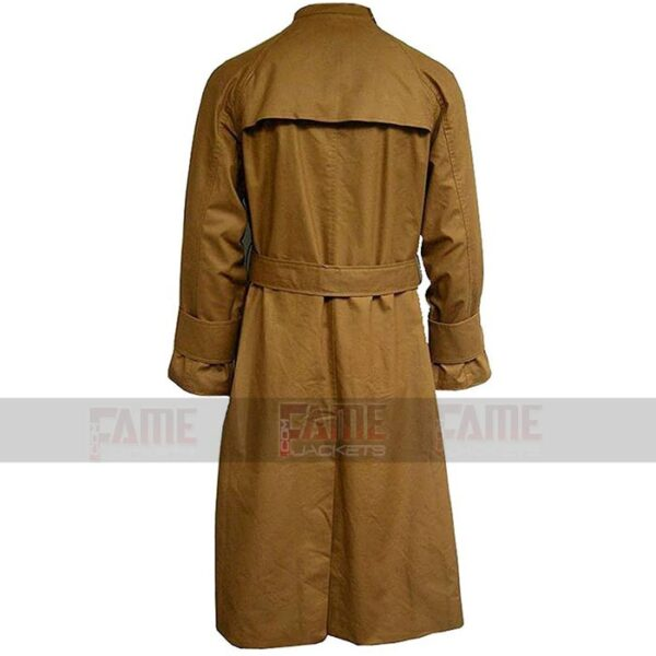 Harrison Ford Vintage Brown Cotton Long Trench Coat