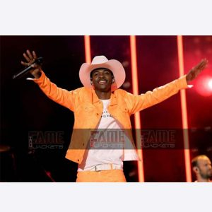 Lil Nas X Old Town Road Vintage Orange Leather Jacket On Sale