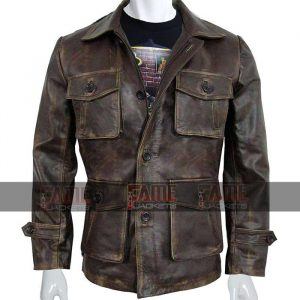 Mens Vintage Real Distressed Leather Jacket On Sale