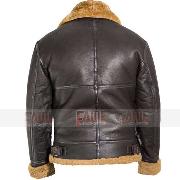 Mens B3 Raf Aviator WW2 Brown Fur Bomber Leather Jacket Online