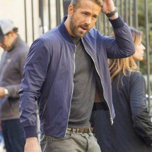 6 Underground Ryan Reynolds Blue Bomber Jacket Online