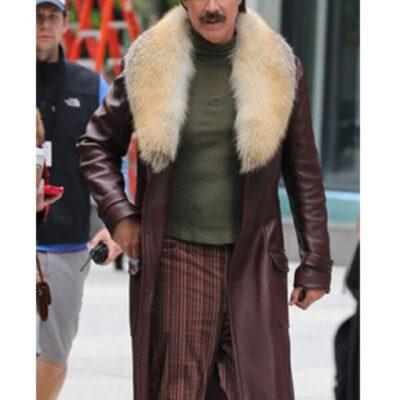 Anchorman 2 Will Ferrell Fur Collar Coat On Sale
