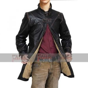 Aiden Pearce Watch Dogs Real Distressed Black Leather Coat Online