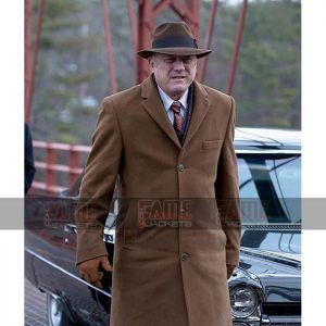 Carmine Falcone Gotham Mens Brown Wool Coat On Sale