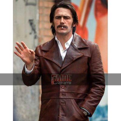 Get James Franco Martino The Deuce Vintage Real Leather Winter Jacket For Men