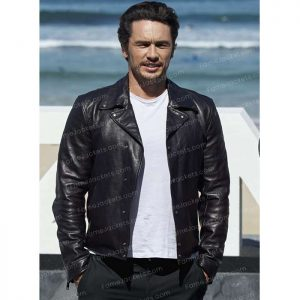 James Franco Mens Black Suede Leather Vintage Blazer On Sale