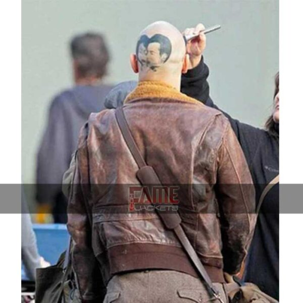 James Franco Zeroville Vikar Brown Leather Fur Collar Jacket Sale