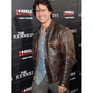 Tom Cruise Brown Distressed Vintage Leather Jacket Online