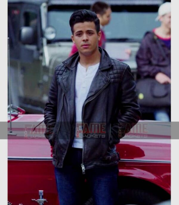 13 Reasons Why Tony Padilla Mens Real Black Real Leather Jacket