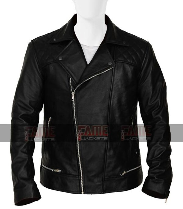 13 Reasons Why Tony Padilla Mens Real Black Real Leather Jacket Online