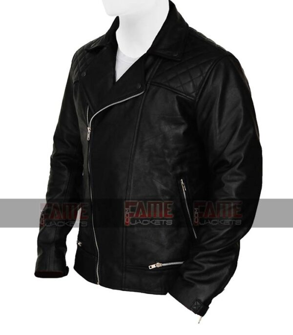 13 Reasons Why Tony Padilla Mens Real Black Real Leather Jacket Sale