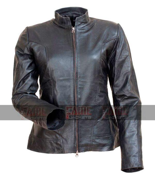Angelina Jolie New Style Black Leather Slim Fit Jacket