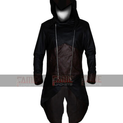 Assassins Creed Unity III Exotica Real Leather Costume With Hoodie