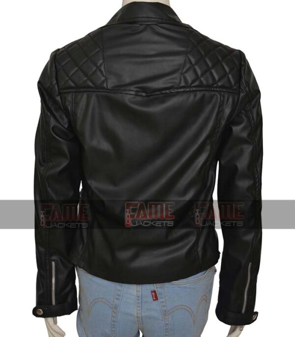 Camren Bicondova Gotham Catwoman Black Slim Fit Women Biker Jacket