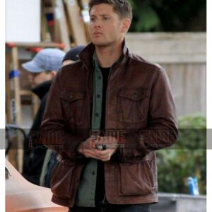 Dean Winchester Men Brown Leather Winter Jackets On Sale