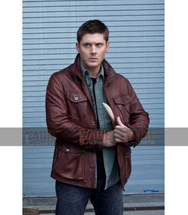 Dean Winchester Men Brown Leather Winter Jackets Online
