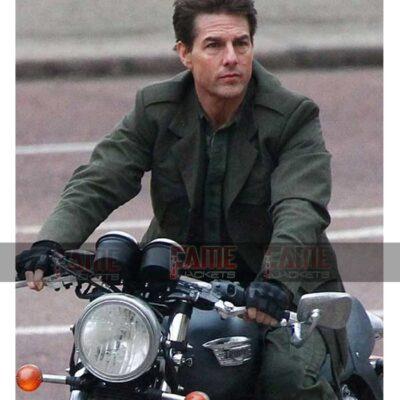 Edge Of Tomorrow Tom Cruise Mens Green Cotton Army Coat Sale