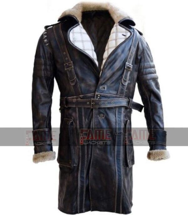 Elder Maxson Fall Out 4 Battle Distressed Winter Over Coat On Sale