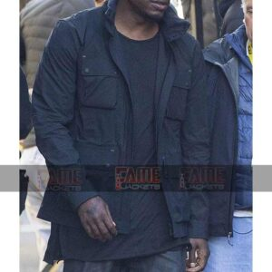 Tyrese Gibson Men Black Cotton 4 Pockets Winter Jackets