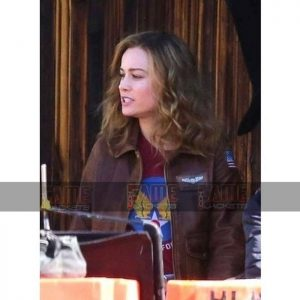 Carol Danvers Captain Marvel Flight Bomber women Leather Jacket