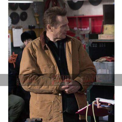 Cool Pursuit Liam Neeson Mens Khaki Cotton Bomber Jacket On Sale