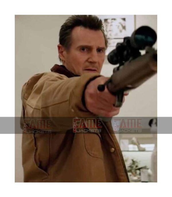 Cool Pursuit Liam Neeson Mens Khaki Cotton Bomber Jacket On Sale