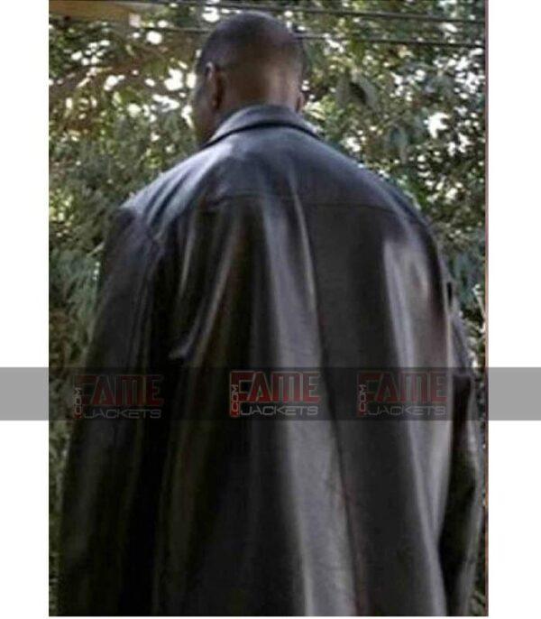 Denzel Washington Training Day Mens Black Leather Winter Coat