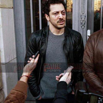 Fahri Yardim Dogs Of Berlin Real Black Leather Jacket For Men Online