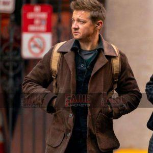 Jeremy Renner Real Brown Suede Leather Men Jacket Sale