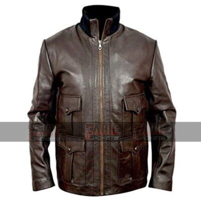 Casino Royale Daniel Craig Real Brown Leather Jacket