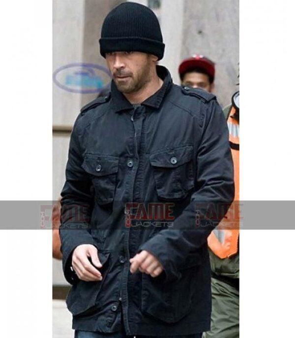 Collin Farrell Black Cotton Men Winter Jacket