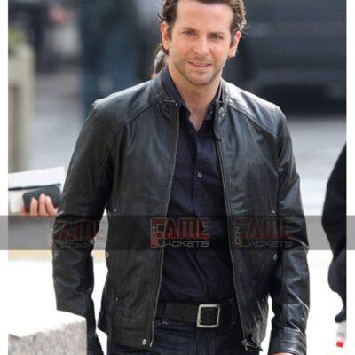Bradley Cooper Limitless Men Real Black Leather Jacket On Sale