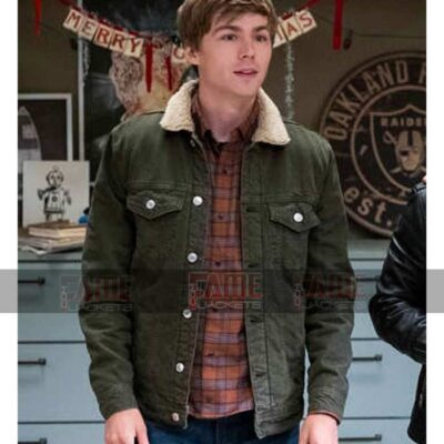 13 Reasons Why S04 Alex Standall Green Cotton Fur Collar Jacket