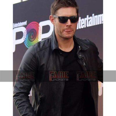 Dean Winchester Jensen Ackles Stylish Real Leather Men Racer Jacket