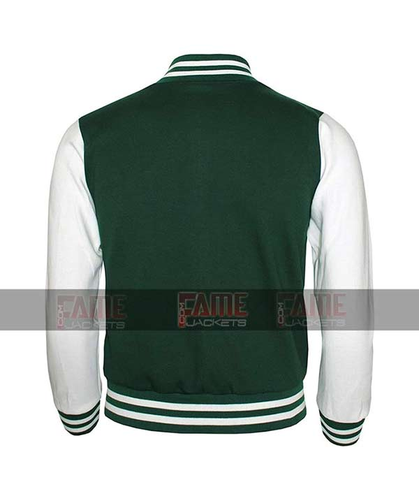 Green Letterman Varsity College Jacket For Boys And Girls