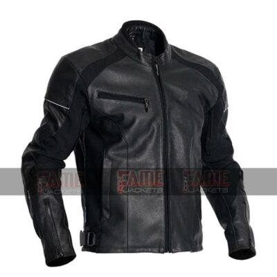 Cafe Racer Of Men In Black Real Cowhide Leather