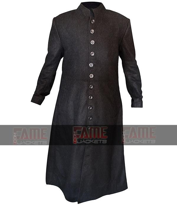 Mens Black Wool Long Winter Coat Sale