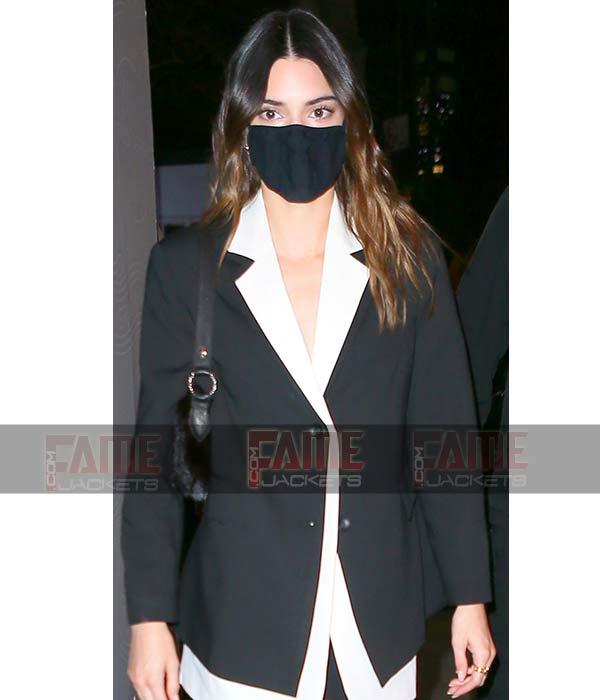 Kendall Jenner Black Tuxedo Dress On Sale