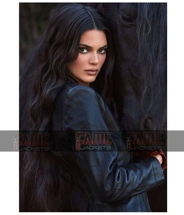 Kendall Jenner New Style Black Vintage Slim Fit Jacket For Women